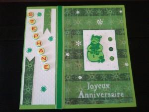 Carte d'anniversaire 25 décembre.  dans carterie photo0982-300x225